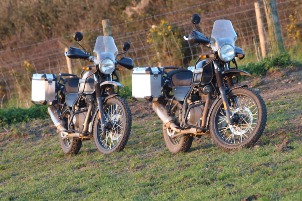 Motorcycle trail touring in west Dorset